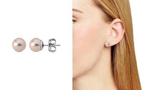 Majorica Simulated Pearl Stud Earrings - Bloomingdale's_2
