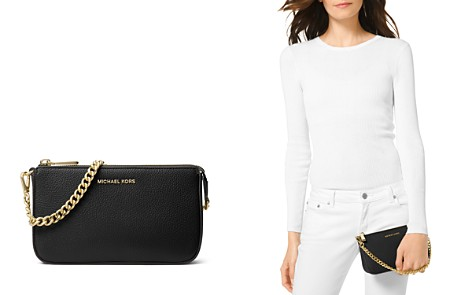 MICHAEL Michael Kors Chain Pouchette Medium Leather Clutch - Bloomingdale's_2