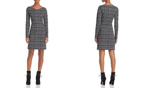 Theory Checked V-Neck Sheath Dress - 100% Exclusive - Bloomingdale's_2