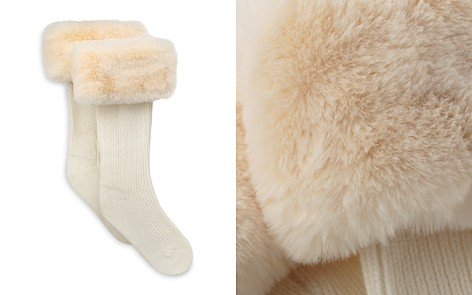 UGG® Rib Knit Socks with Faux Fur Cuffs - Bloomingdale's_2