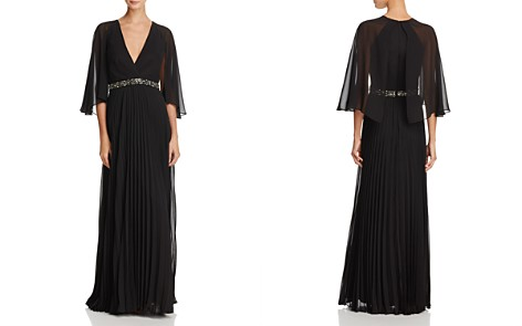 Laundry by Shelli Segal Cape-Back Gown - Bloomingdale's_2