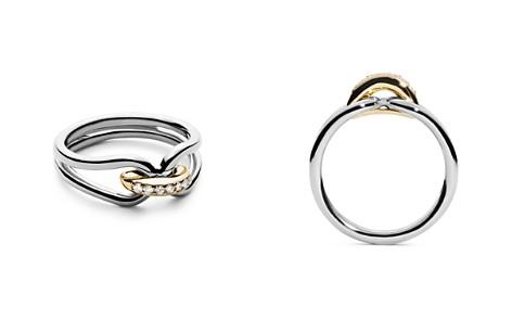 Shinola 14K Yellow Gold & Sterling Silver Diamond Lug Ring - Bloomingdale's_2