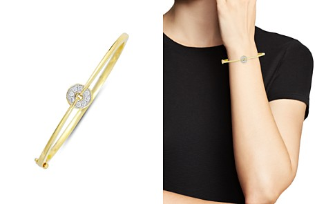 Frederic Sage Small Firenze Diamond Spinning Disc Bangle in 18K White & Yellow Gold - Bloomingdale's_2