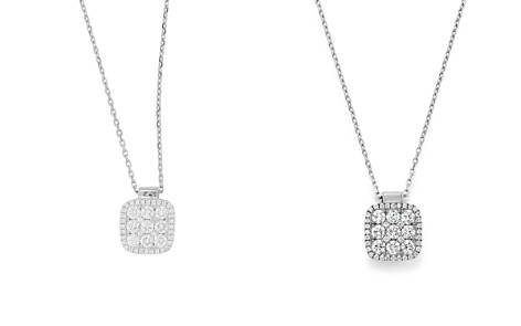 "Frederic Sage 18K White Gold Diamond Firenze Medium Cushion Pendant Necklace, 18"" - Bloomingdale's_2"
