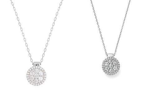 """Frederic Sage 18K White Gold Firenze Diamond Cluster Pendant Necklace, 16"""" - Bloomingdale's_2"""