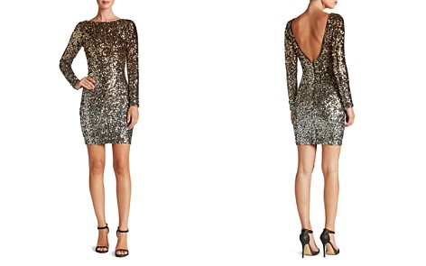 Dress the Population Lola Long-Sleeve Sequin Dress - Bloomingdale's_2