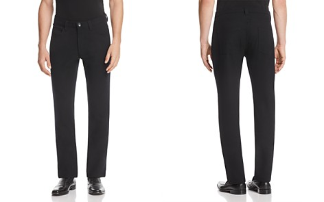 Armani Collezioni Solid Classic Fit Pants - Bloomingdale's_2
