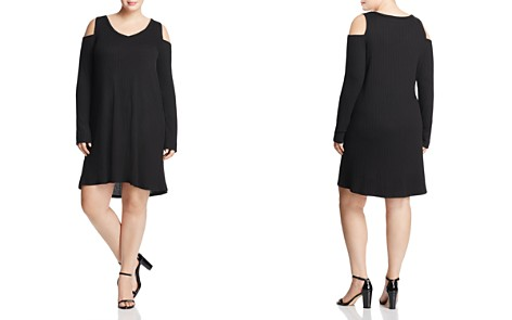 Love Ady Plus Cold Shoulder Ribbed Knit Dress - 100% Exclusive - Bloomingdale's_2