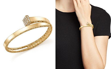 Roberto Coin 18K Yellow Gold Princess Chiodo Diamond Bangle - 100% Exclusive - Bloomingdale's_2