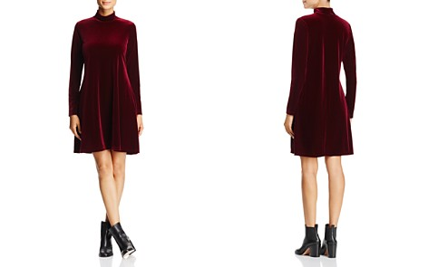 Alison Andrews Mock Neck Fit-and-Flare Velvet Dress - Bloomingdale's_2