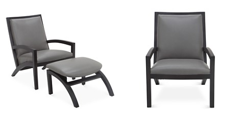 Bloomingdale's Artisan Collection Clara Leather Chair and Ottoman Set - 100% Exclusive_2