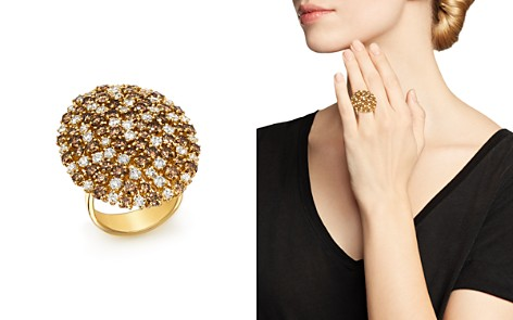 Roberto Coin 18K Yellow Gold Brown & White Diamond Cluster Ring - Bloomingdale's_2
