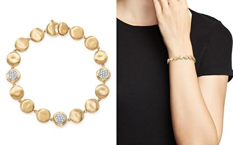 Marco Bicego 18K Yellow Gold Diamond Pavé Jaipur Link Small Beaded Bracelet - Bloomingdale's_2