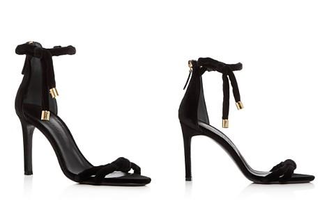 Oscar de la Renta Women's Mila Velvet Ankle Tie High-Heel Sandals - Bloomingdale's_2