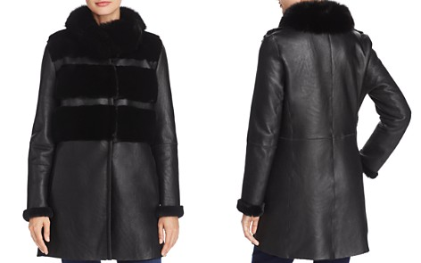 Maximilian Furs Mink & Fox Fur Trim Shearling Jacket - 100% Exclusive - Bloomingdale's_2