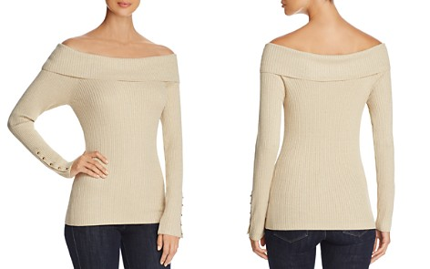Marled Ribbed Off-The-Shoulder Sweater - Bloomingdale's_2