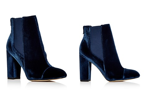 Sam Edelman Women's Case Velvet Cap Toe High-Heel Booties - Bloomingdale's_2