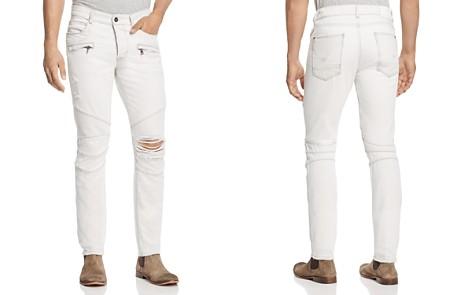 Hudson Blinder Biker Super Slim Fit Jeans in Extracted White - Bloomingdale's_2