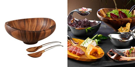 "Nambé ""Butterfly"" Bowl with Servers - Bloomingdale's Registry_2"