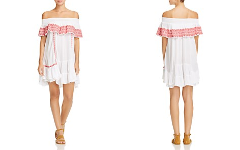 Muche et Muchette Gavin Embroidered Off-the-Shoulder Ruffle Dress Swim Cover-Up - Bloomingdale's_2