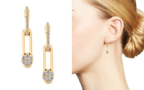 Hulchi Belluni 18K Yellow Gold Diamond Tresore Single Linear Earrings - Bloomingdale's_2
