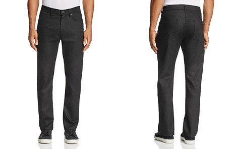 7 For All Mankind Airweft Straight Fit Jeans in Black - Bloomingdale's_2