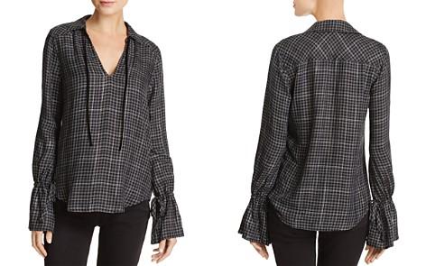 PAIGE Calissa Metallic Plaid Shirt - Bloomingdale's_2