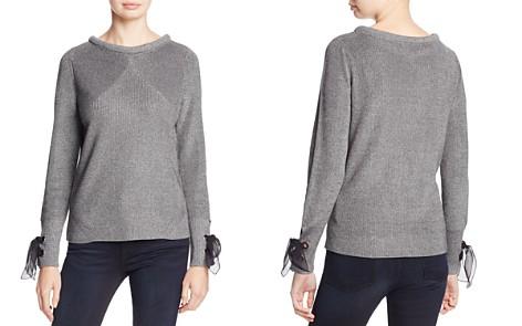 NIC+ZOE Metallic Muse Lace-Up Cuff Sweater - Bloomingdale's_2