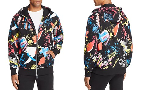 Versus Versace Doodle Zip Hooded Sweatshirt - Bloomingdale's_2