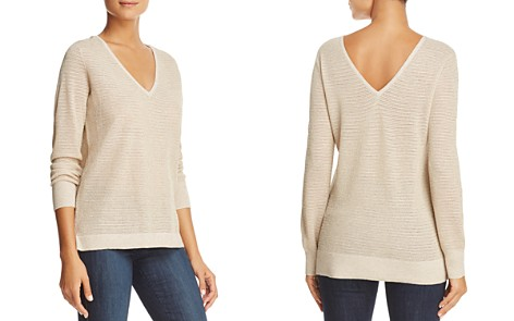 NYDJ Metallic Double V-Neck Sweater - Bloomingdale's_2