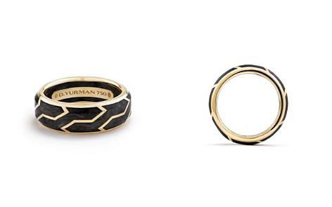 David Yurman Men's Forged Carbon Band Ring in 18K Gold - Bloomingdale's_2