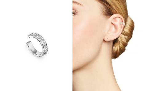 Adina Reyter Sterling Silver Double Wide Pavé Diamond Ear Cuff - Bloomingdale's_2