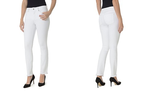 NYDJ Petites Sheri Slim Frayed Ankle Jeans in Optic White - Bloomingdale's_2