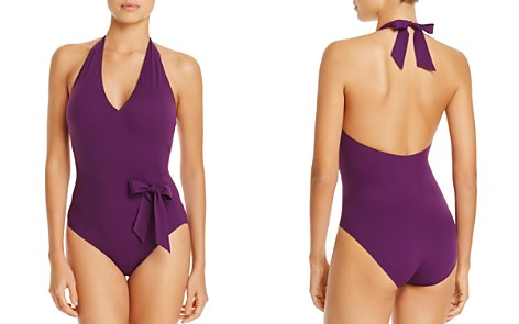 Gottex Bow-Detail V-Neck One Piece Swimsuit - Bloomingdale's_2