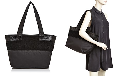 Elizabeth and James Newspaper Shearling & Nylon Tote - Bloomingdale's_2