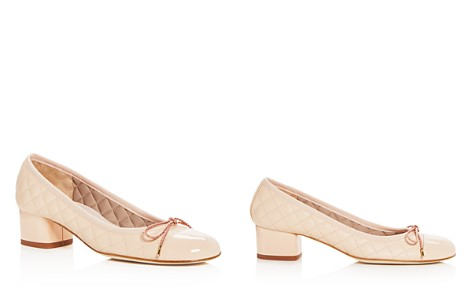 Paul Mayer Women's Titou Quilted Leather Block Heel Pumps - Bloomingdale's_2