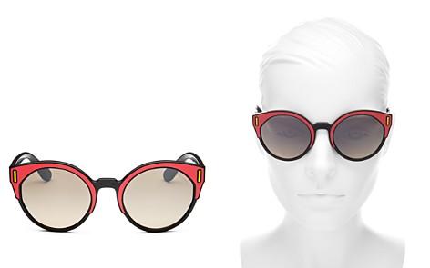Prada Women's Mirrored Round Sunglasses, 53mm - Bloomingdale's_2
