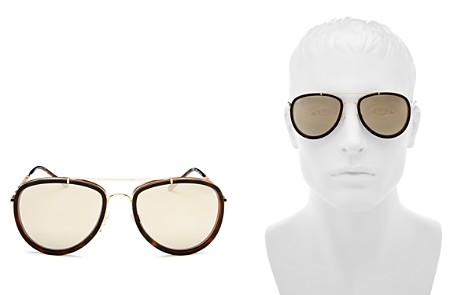 Burberry Mirrored Brow Bar Aviator Sunglasses, 56mm - Bloomingdale's_2