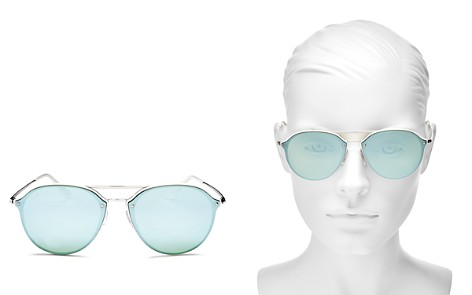 Ray-Ban Unisex Mirrored Brow Bar Rimless Round Sunglasses, 62mm - Bloomingdale's_2