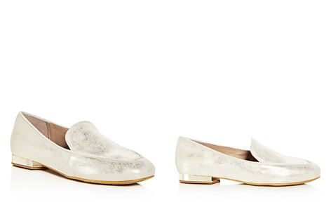 Donald Pliner Women's Honey Tumbled Leather & Patent Leather Loafers - Bloomingdale's_2