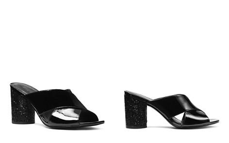 MICHAEL Michael Kors Women's Cher Patent Leather Mid Heel Mules - Bloomingdale's_2
