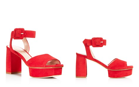 Stuart Weitzman Women's Newdeal Suede Platform Ankle Strap Sandals - Bloomingdale's_2