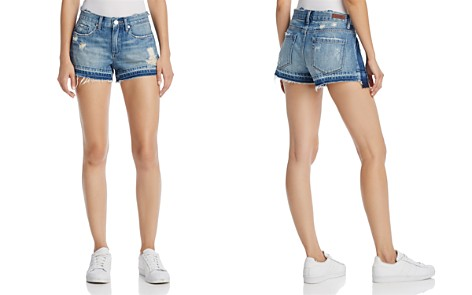 BLANKNYC Contrast Panel Denim Shorts in Hot Thoughts Blue - Bloomingdale's_2