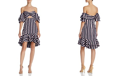 WAYF Korbin Striped Off-the-Shoulder Dress - 100% Exclusive - Bloomingdale's_2
