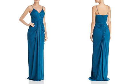 Bariano V-Neck Draped Gown - 100% Exclusive - Bloomingdale's_2