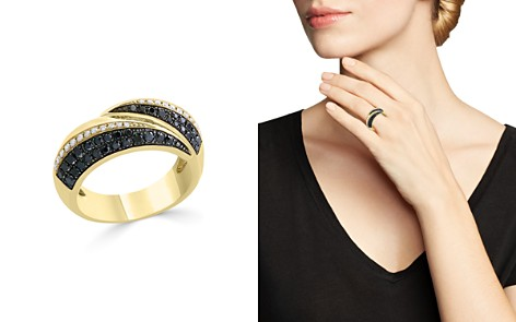 Bloomingdale's Black & White Diamond Band in 14K Yellow Gold - 100% Exclusive _2