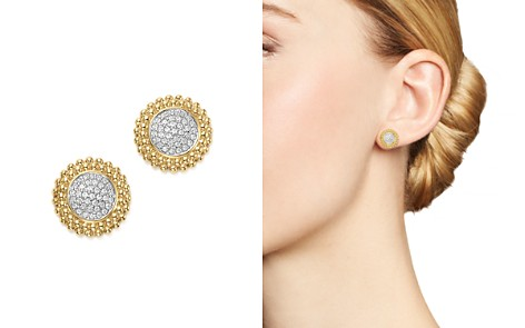 Diamond Micro Pavé Beaded Stud Earrings in 14K Yellow Gold, 0.20 ct. t.w. - 100% Exclusive - Bloomingdale's_2