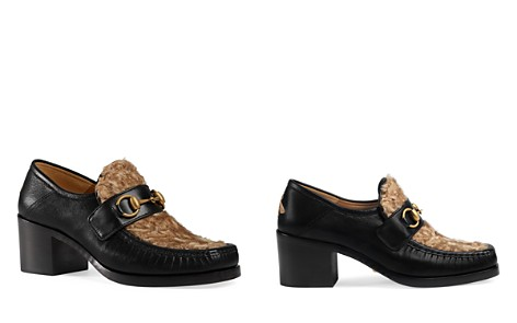 Gucci Women's Vegas Leather & Lamb Fur Mid Heel Loafers - Bloomingdale's_2