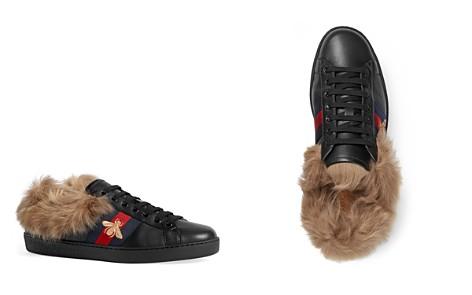 Gucci Men's Bee Fur-Lined Sneakers - Bloomingdale's_2