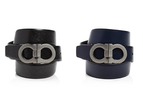 Salvatore Ferragamo Micro Gancini Reversible Belt with Double Gancini Buckle - Bloomingdale's_2